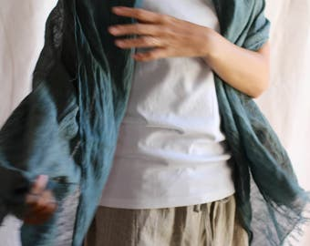 Ethical clothing,Linen shawl,Linen scarf,Organic women,Linen wrap,Linen neck warmer,Simple linen,Natural Linen,Naturally dyed,Hand dyed