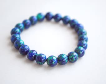 "Natural Simple Classic Designed ""Azurite"" Bracelet"