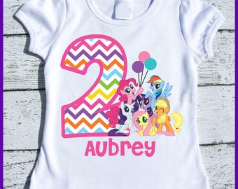 Custom Personalized Pony Birthday tee shirt
