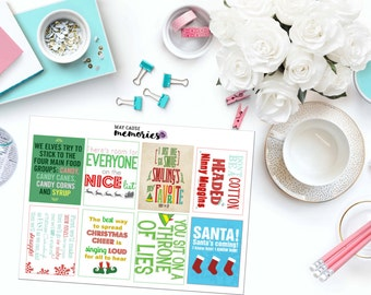 ELF INSPIRED QUOTE Paper Planner Stickers!