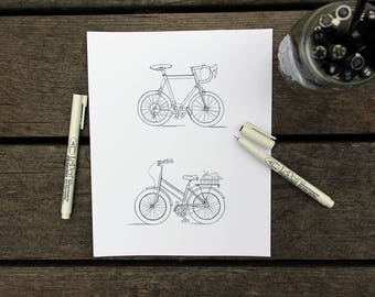 Bikes (2) | Hand Drawn Portrait