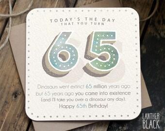 Funny 65th Birthday Card / 65th birthday / 65 birthday / father birthday / NN65