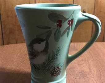 Pfaltzgraff Wintereood Tall Green Mug