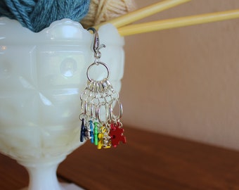 My Perfect Piece Stitch Markers for Knitting and Crocheting - Set of 6 - Autism Puzzle Pieces - Autism Awareness