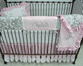 Baby Girl Bedding Etsy