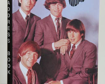 Vintage The Monkees Address Book, New Never Used, 1998 Rhino Entertainment Co., Davy Jones, Micky Donenz, Peter Tork and Mike Nesmith