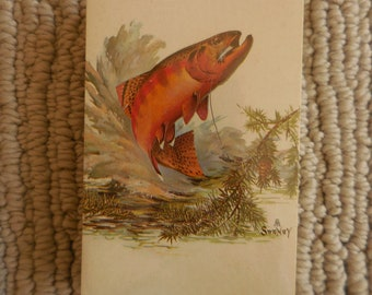 New Vintage Brown Trout Fish Decks of Cards