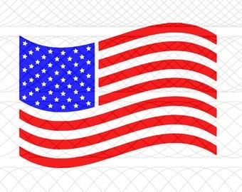American Flag SVG|PNG|STUDIO3 Cut Files for Silhouette Cameo/Portrait & Cricut Explore/Maker DIY Craft Cutters