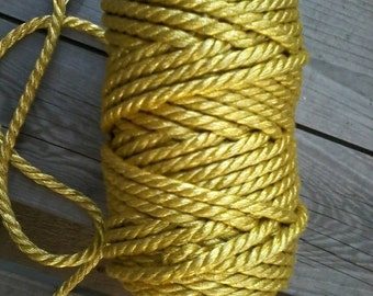 "25meters of Golden Cord 4.5mm ""Limited edition"""