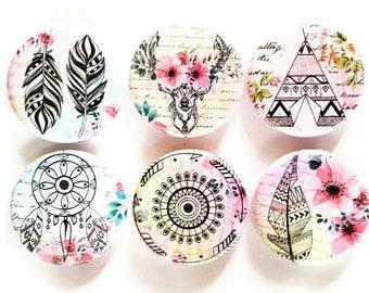 Southwest Magnets, Feathers, Arrows, Dreamcatcher, Deer, Teepee, Unique Magnet Set, Boho, Tribal, Native American, Southwest, Fridge Magnets