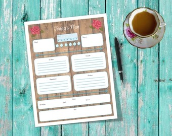 Rustic Country Planner Printable