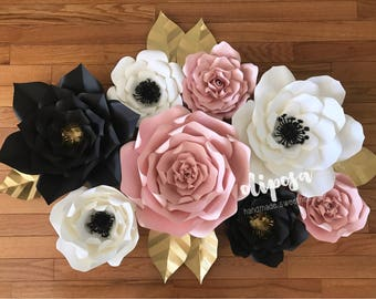 8 pc Giant Paper Flowers, nursery, toddler room, home decor, Customize your colors