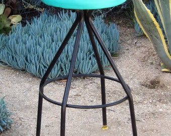 Vintage counter swivel stool