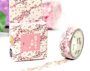 Cherry Blossom pink flower pretty washi tape deco tape masking tape scrapbook planner happy mail craft bullet journal