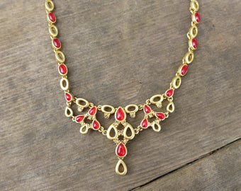 Kiam Family Necklace  Gold Ruby Signature Collection Vintage