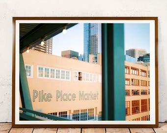 Seattle Pike Place, Urban Photography, Digital Download, Instant Download, Modern Art Print, Contemporary Print, Wall Art, Home Decor