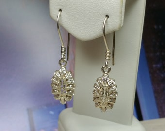 Silver earrings with small Crystal stones SO121