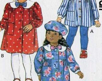 Girls Dress Top Jumpsuit Leggings and Hat Sewing Pattern  Butterick 5662  Size 4 5 6  Uncut
