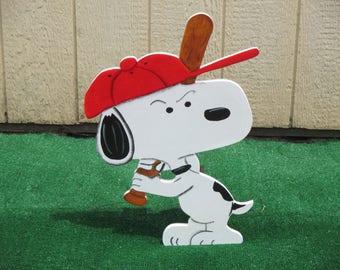 Peanuts Snoopy  Baseball Yard Sign
