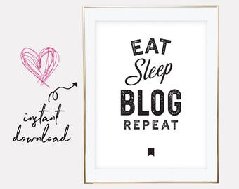 gift for blogger, blogger gift, blogger printable, blogger print, blogger poster, blog print, blogger, downloadable prints, printable art