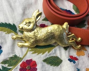 Rabbit Buckle Leather Belt-Bunny-FREE SHIPPING within Australia
