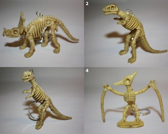 Skeleton Dinosaur Pendant Keychains and Beaded Necklaces - SELECT STYLE