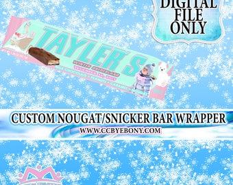 Winter ONEderland Custom Nougat/Snicker Candy Wrapper