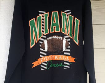 Vintage Miami College Football Sweater
