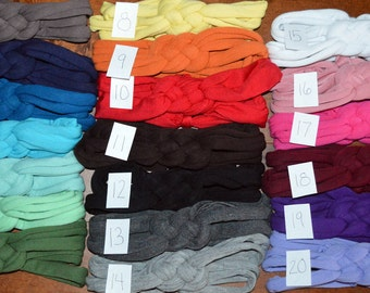 Any 5 for 30 You Pick Nautical Knot Stretch Jersey Cotton Headband for Woman or Girls