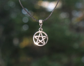 Necklace with pentacle / Pentagram / wicca / #037