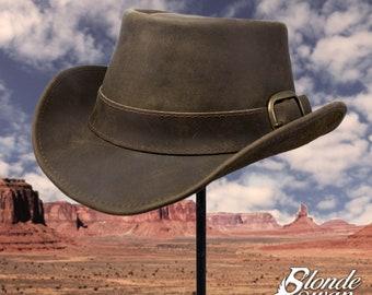 Leather Western Cowboy Hat