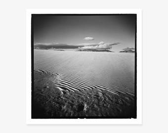 Black & White Photography, Fine Art Print, American West, White Sands National Monument, New Mexico, Holga, Landscape