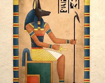 Egyptian Art Print Ancient God Anubis