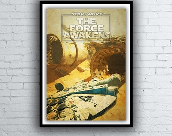 Star Wars Episode 7 Movie Poster / Print - The Force Awakens Poster