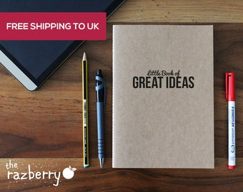 Little Book of Great Ideas A5 Notebook Sketchbook Blank Book Artbook College Exercise Book Notepad Stationery Paper Kraft Craft Paper