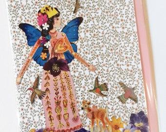 Fairy Greeting Card (wings series) - blank inside