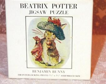 Beatrix Potter Jigsaw Puzzle - BENJAMIN BUNNY - Vintage Puzzle - 1973
