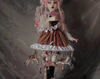 The Carrousel, Handmade doll, unique piece