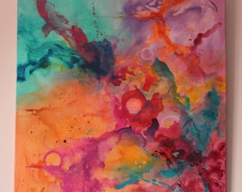 Modern abstract painting: madness