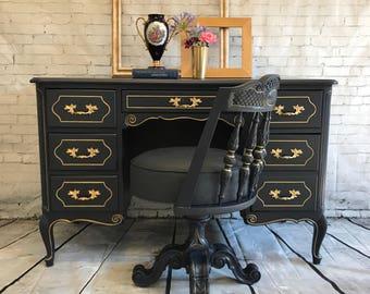 SOLD - Antique French Provincial Desk