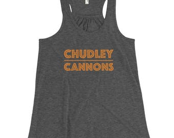 Harry Potter / Quidditch Inspired Tank Top – Chudley Cannons Women's Flowy Racerback Tank / Quidditch Tank – Harry Potter Shirt