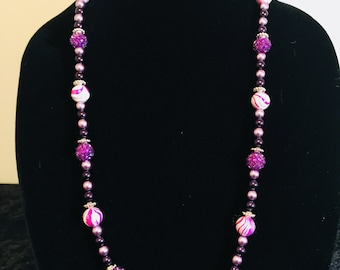 Purple Candy and Passion Necklace & Earring Set