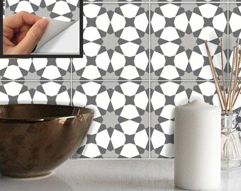 Tile Stickers Waterproof Removable Wallpaper by SnazzyDecal