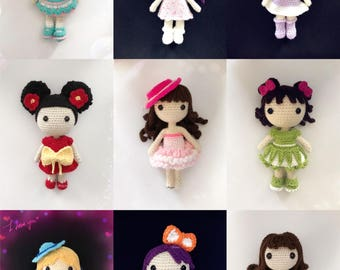 Amigurumi crochet doll collection (price is for ONE doll)