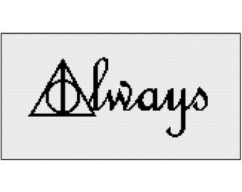 Always | Harry Potter modern cross stitch kit | counted cross stitch | geek
