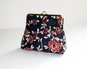 Upcycled Floral Clutch