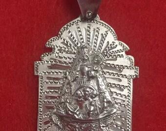 Caridad del cobre silver 925 medals hand engrave