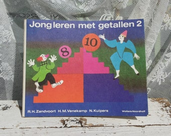 Juggling with numbers 2 * calculation booklet/educational/illustrated in colour/Wolters-Noordhoff/Zandvoort/Clowns/Circus/Mance Post