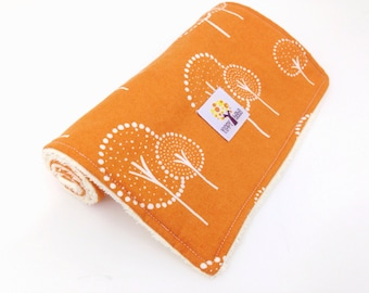 Burp Cloths, Orange Trees - Set of 2