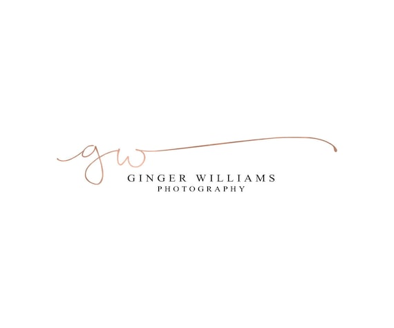 Rose gold logo calligraphy photography